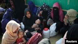 Người Rohingya tại một trại tị nạn ở Bangladesh.