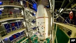 ماهواره گایا در پایگاه فضایی واقع در گویان فرانسه
