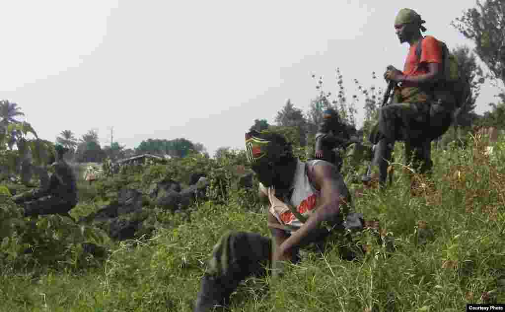 Les rebelles du M23 à Rutshuru