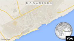 Map of Mogadishu, Somalia
