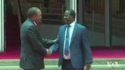 Perezida Kenyatta na Raila Odinga Basubije Hamwe