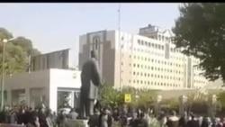 تصاویری از حضور گسترده ماموران امنیتی در تجمع بازنشستگان در تهران