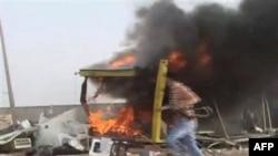 Prizor iz pobunjeničkog libijskog grada Misrate koji je pod opsadom Gadafijevih snaga