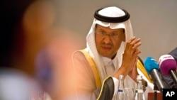 Saudi Energy Minister Prince Abdulaziz bin Salman attends a news conference that followed an OPEC meeting in Abu Dhabi, United Arab Emirates, Sept. 12, 2019.