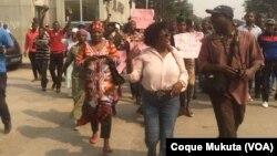 Manifestação de mães de activistas, Luanda, Angola (Arquivo)