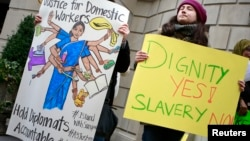 Демонстрация в поддержку индийской домработницы