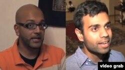 "Amman Ali (kiri) dan Bassam Tariq, the writers and photographers of ""30 Days 30 Mosques"" website."
