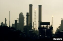 FILE - A view of Venezuela's Amuay Oil refinery in Punto Fijo, west of Caracas.
