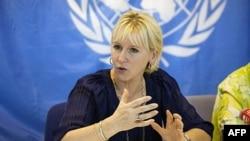 Menteri Luar Negeri Swedia Margot Wallstrom.
