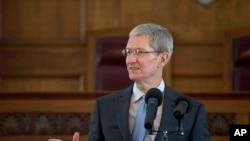 苹果公司执行总裁库克(资料照片)