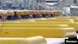 Gas pipes in the village of Boyarka, outside Kyiv, Ukraine, Dec. 19, 2012.