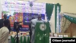 Gwamnan Bauchi M. A. Abubakar a wurin kaddamar da sabon shirinda USAID ta shirya