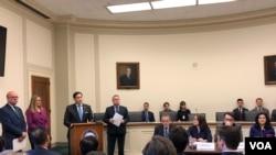 美国国会暨行政当局中国委员会(CECC)2020年3月11日召开就维吾尔强迫劳动问题召开讨论会。(美国之音记者李逸华摄)