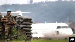 L'aéroport de Goma, Nord-Kivu, RDC
