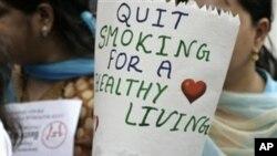 印度兒童響應世界衛生組織推行的世界無煙日