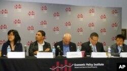 """華盛頓""""經濟政策研究所""""4月11號舉行研討會,批評蘋果公司的勞工政策"""