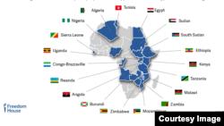 Hatua za ukandamizaji dhidi ya asasi za kiraia Afrika tangu mwaka 2004