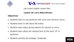 Lesson 35 Lesson Plan