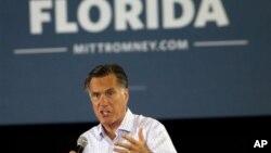 19일 미국 플로리다주 마이애미에서 유세 중인 미트 롬니 공화당 대통령 후보.