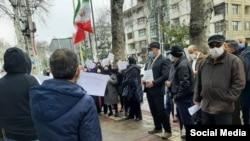 تصویری از تجمع بازنشستگان در ساری