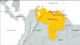 Map showing the location of Altagracia de Orituco, Venezuela