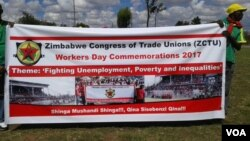 Zimbabwean workers commemorate Workers' Day.