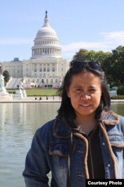 Sineas Indonesia, Jane Lawalata, saat berkunjung ke Washington, DC (dok: Jane Lawalata)
