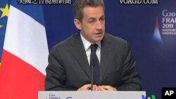 Le président Nicolas Sarkozy, hôte du sommet