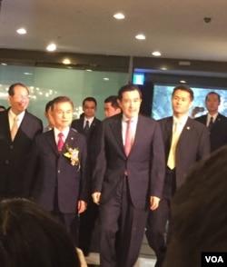 台湾台湾总统马英九。(照片来源:美国之音李逸华拍摄)
