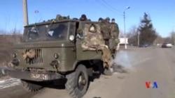 2015-02-18 美國之音視頻新聞: 烏克蘭政府軍撤離德巴爾切夫