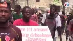 Ayiti: Lapolis Anpeche yon Gwoup Manifestan Rive Devan Kay Prezidan Jovenel Moïse