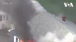 آتش سوزی ناشی از انفجار گاز در شهر بوستون