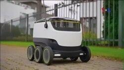 Xe robot tự lái có thể giao hàng trong tương lai