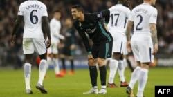 Cristano Ronaldo lors du match contre Tottenham à Londres, le 1er novembre 2017.