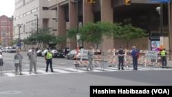 نیروهای امنیتی در شهر کلیفلند