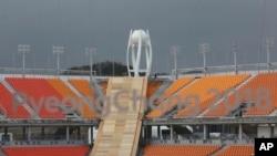 Стадион в Пхенчхане, где пройдут Олимпийские игры