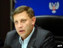 Alexander Zakharchenko speaks to media during a press conference in the eastern Ukrainian city of Donetsk, Nov. 2, 2014.