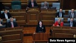 Predsednica Kosova Atifete Jahjaga govori u Skupštini Kosova