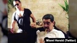 Một bức ảnh ghi cảnh ăn uống của ông Maduro