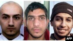 Abdelhamid Abaaoud, à droite, un jihadiste de l'Etat islamique (EI) soupçonné d'avoir organisé les attaques de Paris, avec deux autres suspects de ces attentats
