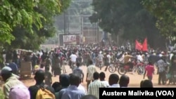 Une manifestation contre l'assassinat du Col. Mamadou Ndala, le 03 janvier 2013