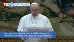 VOA60 Addunyaa - Pope Francis called for solidarity in his Christmas message Friday