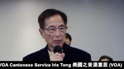 香港民主黨創黨主席李柱銘 (攝影﹕美國之音湯惠芸)