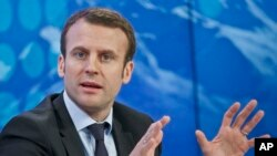 Le jeune ministre de l'Economie en France M.Emmanuel Macron