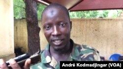 Le lieutenant Doba Vipère à N'Djamena, le 26 août 2019. (VOA/André Kodmadjingar).