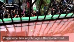 Clashes Between Police, Protesters During Catalonia Referendum