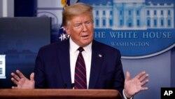 پرزیدنت ترامپ در کنفرانس خبری کاخ سفید