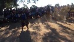 Villagers Singing And Dancing At Zapu Meeting