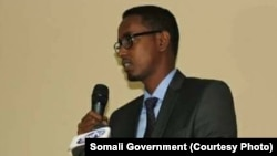 FILE - Abbas Abdullahi Sheikh Siraji, minister of public works and reconstruction in Somalia, is shown in this undated photo.