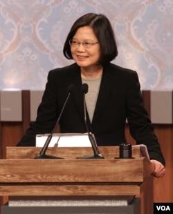 民进党总统候选人蔡英文 (照片来源:公共电视台)
